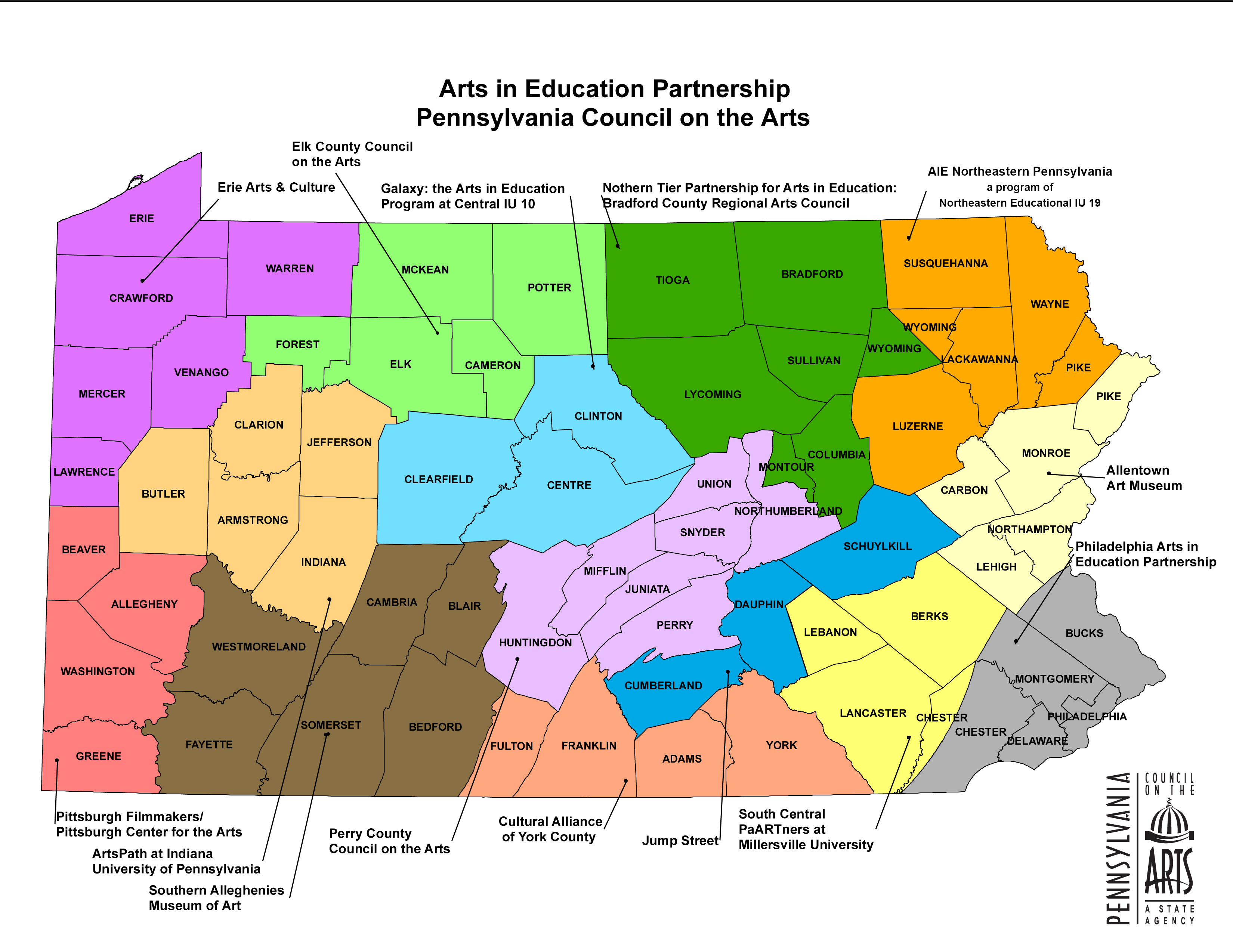 Home this map illustrates where our aie partner organizations are located across pennsylvania xflitez Gallery